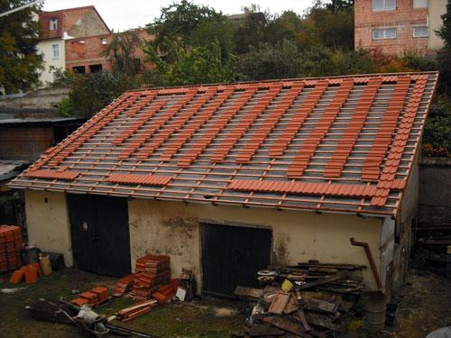 Pultová střecha krov